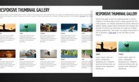 Responsive Thumbnail Gallery CSS/HTML