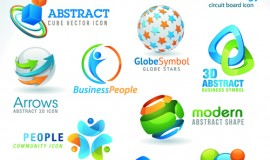 Different industries Icons and Symbols vector 02