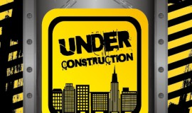 Construction warning sign vectors background 01
