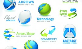 Different industries Icons and Symbols vector 03