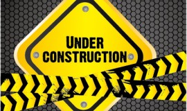 Construction warning sign vectors background 04