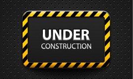 Construction warning sign vectors background 05