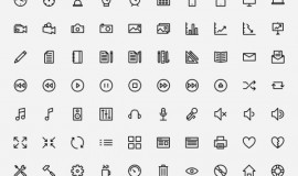 150 Outline web icons vector