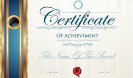 Modern certificate creative design vector set 10