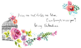 Watercolor flower wedding invitation vector graphics 03