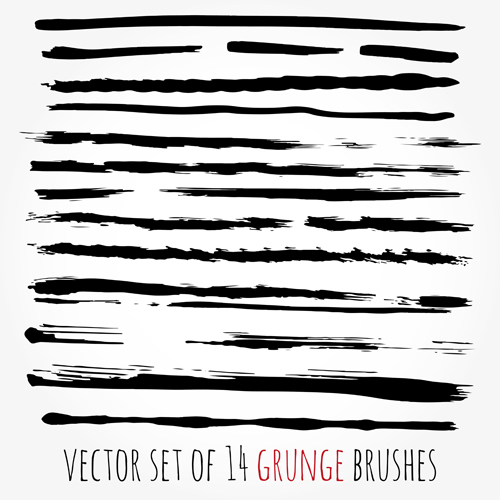 Grunge watercolor brushes vector material 04 watercolor material grunge brushes