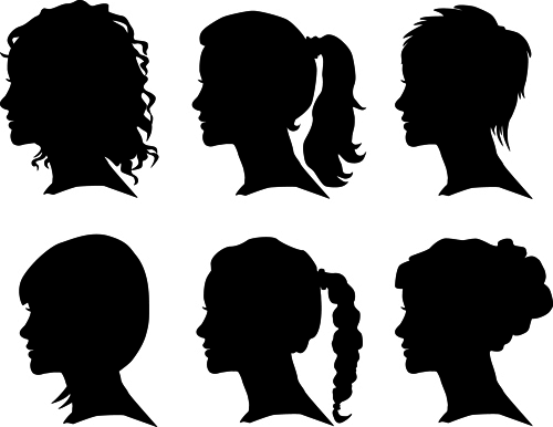 Creative man and woman silhouettes vector set 04 woman silhouettes silhouette man creative
