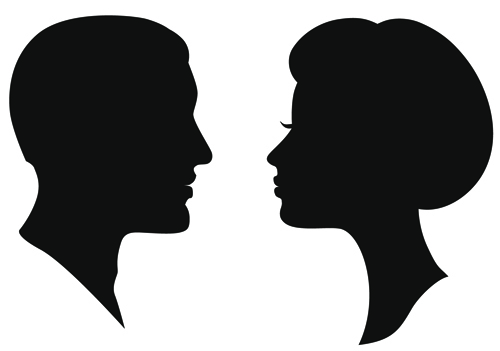 Creative man and woman silhouettes vector set 02 woman silhouettes silhouette man creative