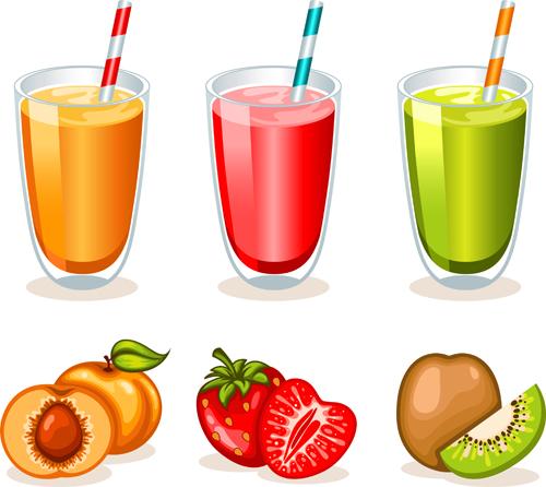 Fruit drinks food vector graphic set 04 vector graphic graphic food drinks drink