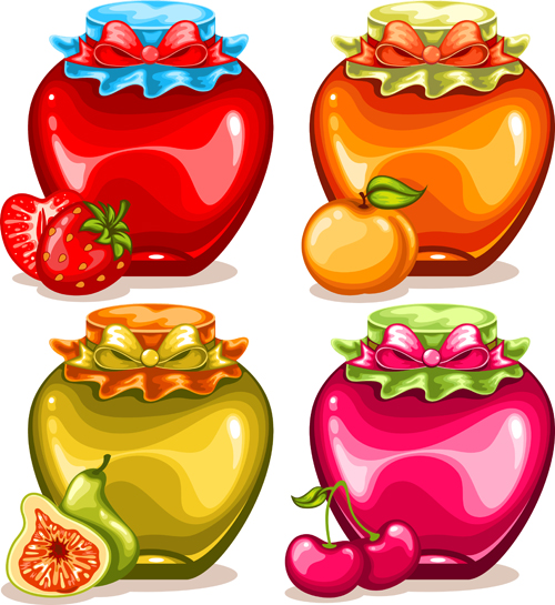 Fruit drinks food vector graphic set 01 vector graphic graphic food drinks drink design