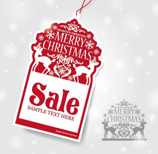 Vector set of 2014 Christmas sale tags design 02 vector tags christmas 2014