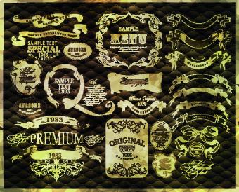 Vintage calligraphic design elements vector set 03 vintage graphic design graphic element design elements