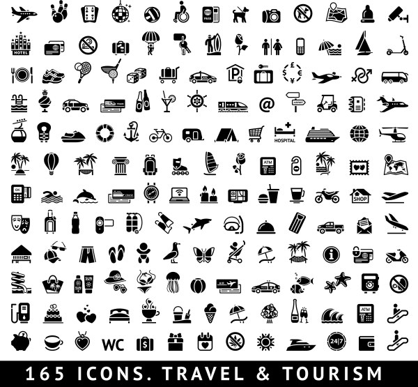 Travel and tourism icons set vector vector travel and tourism travel tourism icons icon 2014