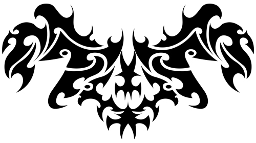 Floral tribal tattoo vector material 15 tribal tattoo material floral