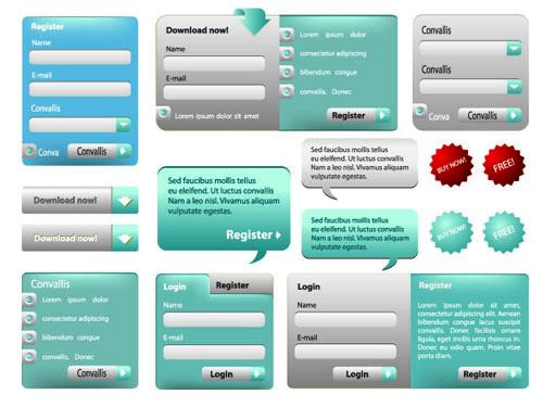 Web Login window Elements vector 05 window web login elements element