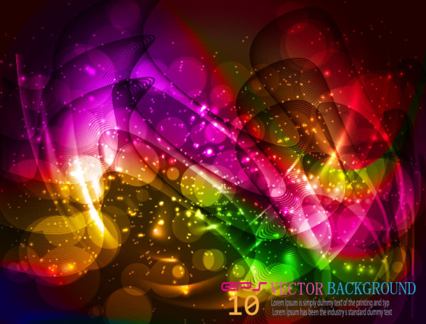 Set Abstract Halation background free vector 05 vector set halation free background abstract art