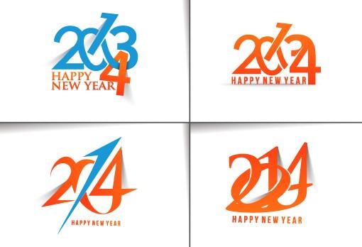 2014 text creative design vectors 03 vector text creative 2014