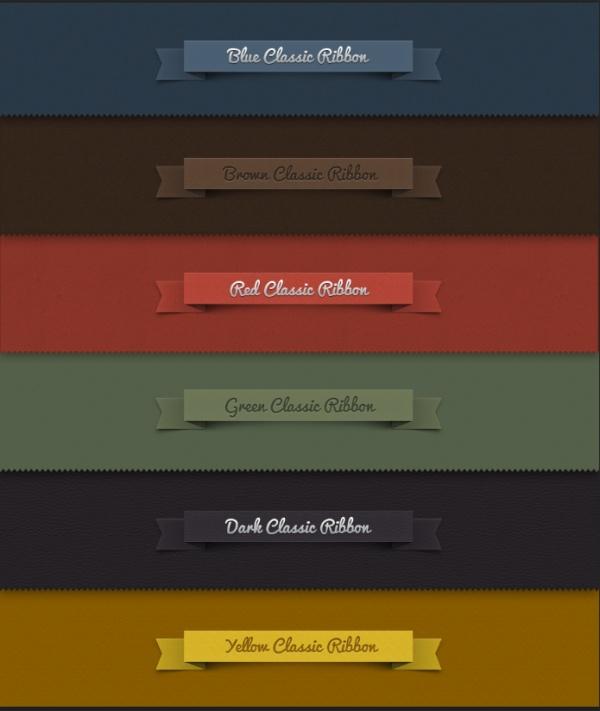 Creative ribbon labels psd graphics ribbon psd labels graphics