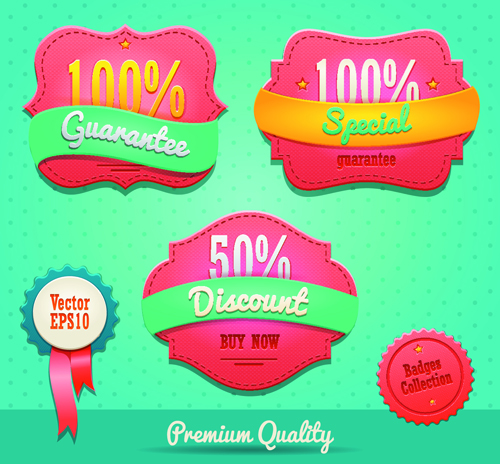 Vintage premium quality labels design vector 01 vintage quality premium labels label collection badges