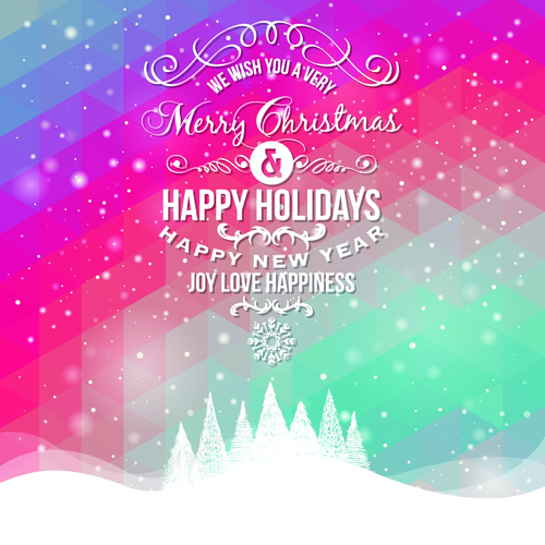 Winter holiday cards vector set 01 winter set holiday card