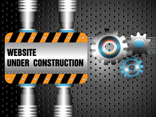 Website under construction vector material 02 website Under material construction