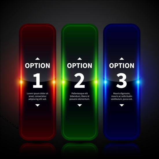 Colored neon infographic vectors 06 neon infographic colored