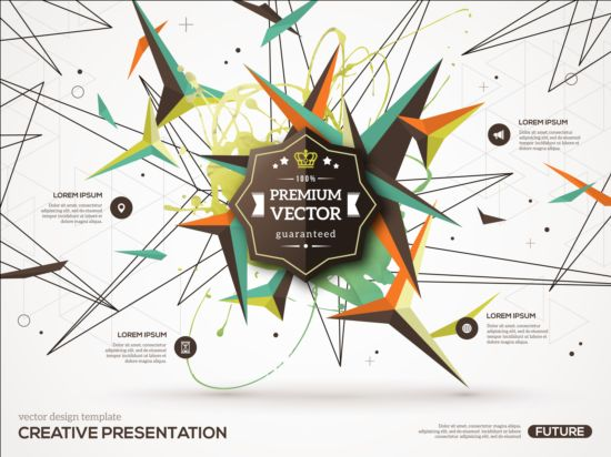 Paint stain and geometric shapes infographic vectors 06 Stain shapes paint infographic geometric