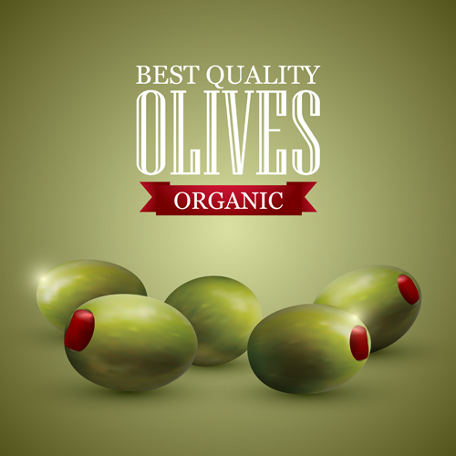 Quality organic olives vector graphics 01 quality organic olives graphics
