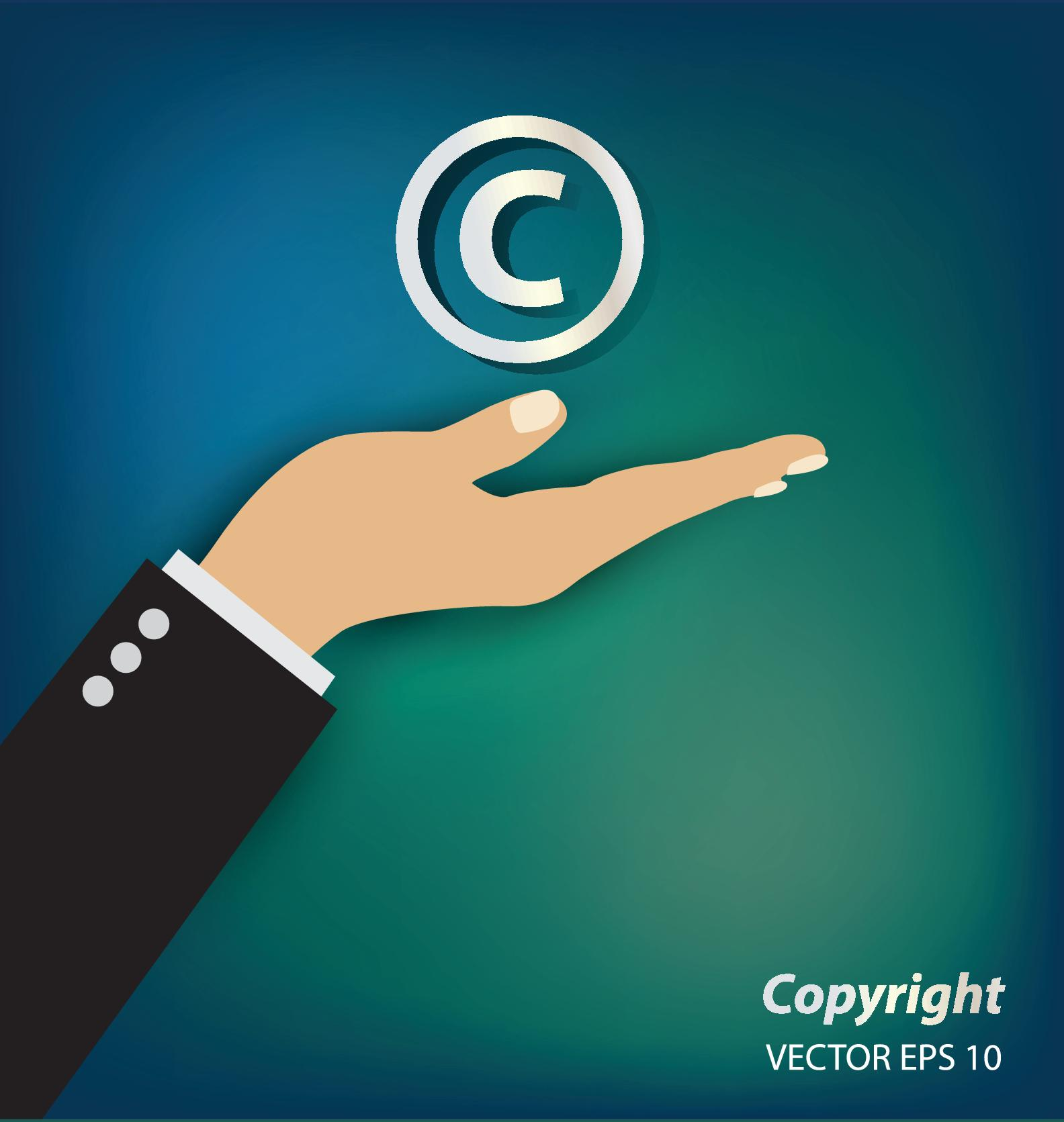 Creative copyright business vector design 01 creative copyright business
