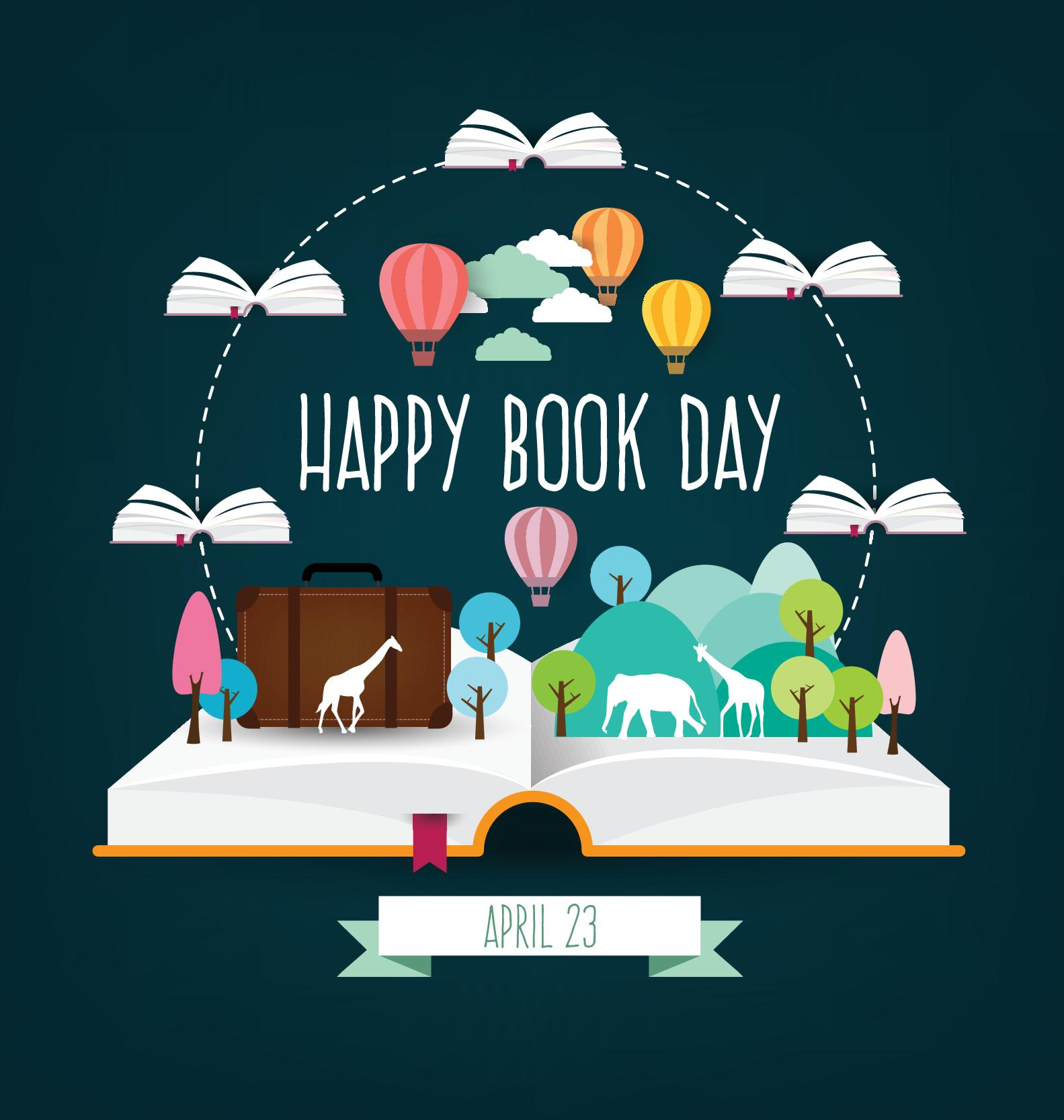 April 23 happy book day vector design 01 happy book April 23
