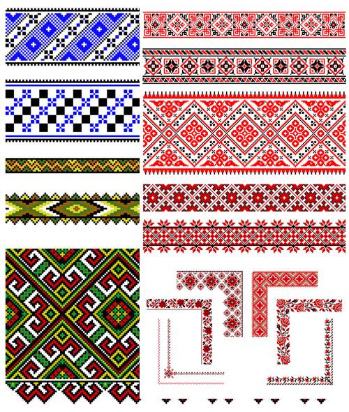 Pixel Floral vector vector pixel pattern