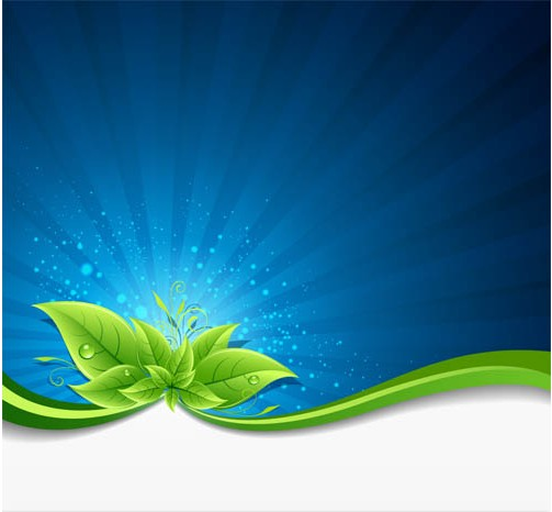 Nature green leaves backgrounds set vector set nature leaves