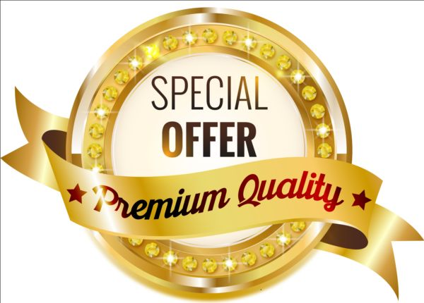 Golden with diamond premium quality labels 01 quality premium labels golden diamond