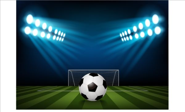 football field and spotlights background vector 02 gooloc spotlights background vector 02 gooloc