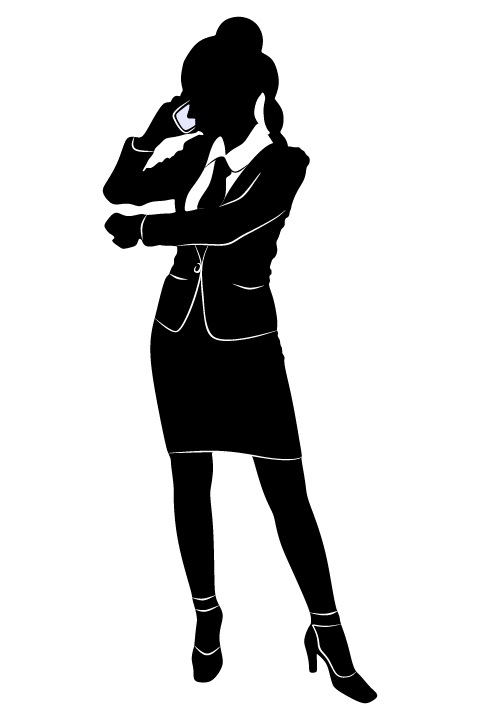 Professional Women vector silhouettes set 25 women silhouettes professional