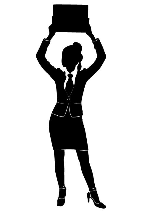 Professional Women vector silhouettes set 23 women silhouettes professional