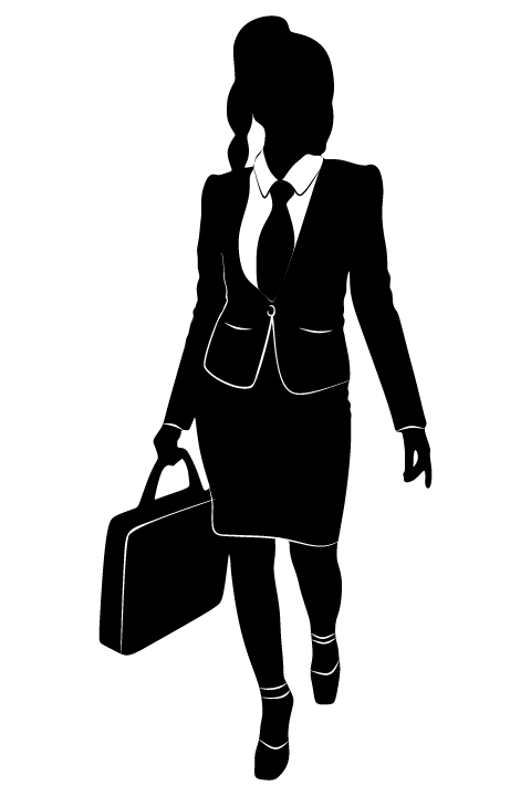 Professional Women vector silhouettes set 22 women silhouettes professional