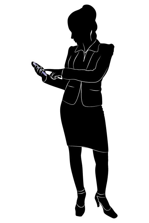 Professional Women vector silhouettes set 19 women silhouettes professional