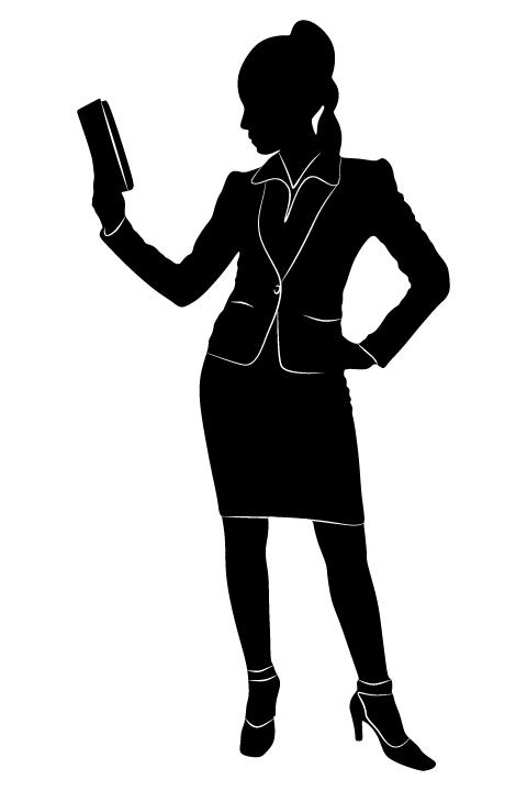 Professional Women vector silhouettes set 18 women silhouettes professional