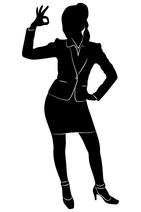 Professional Women vector silhouettes set 08 women silhouettes professional
