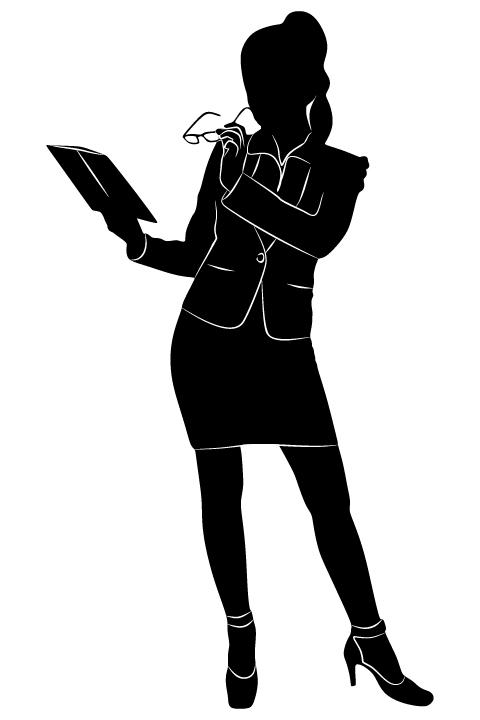 Professional Women vector silhouettes set 17 women silhouettes professional profession