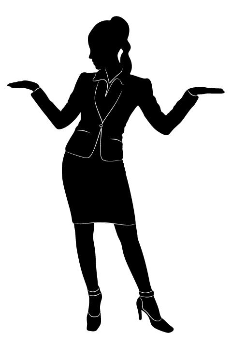 Professional Women vector silhouettes set 06 women silhouettes professional
