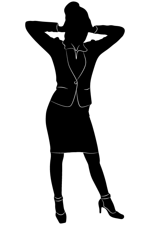 Professional Women vector silhouettes set 05 women silhouettes professional profession