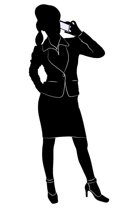 Professional Women vector silhouettes set 16 women silhouettes professional