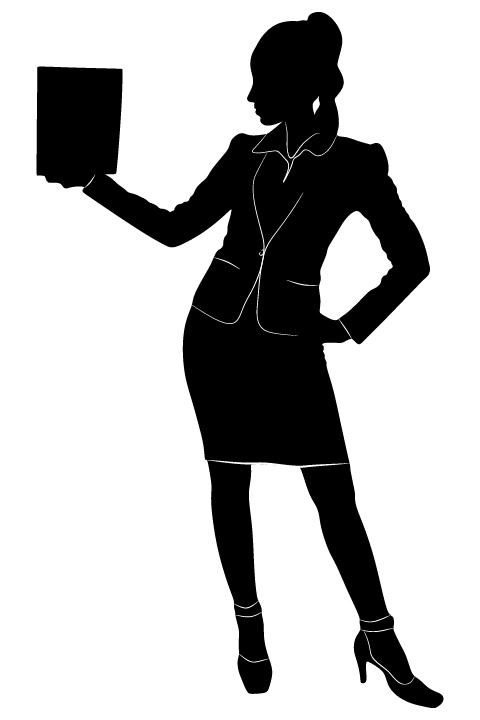 Professional Women vector silhouettes set 04 women silhouettes professional