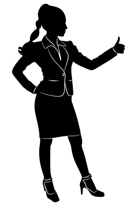Professional Women vector silhouettes set 14 women silhouettes professional
