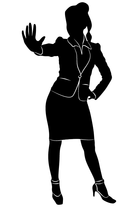 Professional Women vector silhouettes set 02 women silhouettes professional
