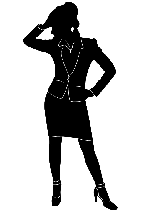 Professional Women vector silhouettes set 09 women silhouettes professional