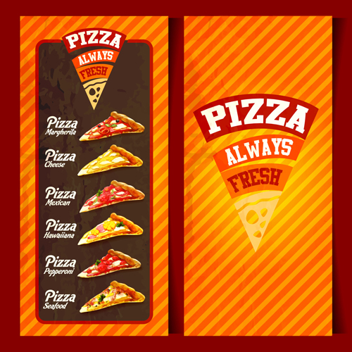 Pizza menu with cover vector graphic pizza menu graphic cover