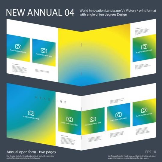 New Annual Brochure design layout vector 04 new layout design brochure Annual
